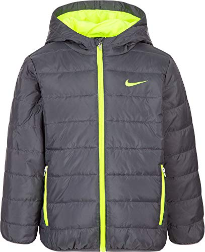 Nike Boy's Polyfill Quilted Insulated Puffer Jacket (Dark Grey, 4) by Nike (Image #2)