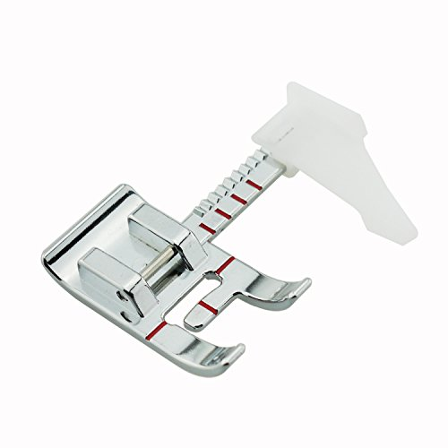 DreamStitch Adjustable Guide Sewing Machine Presser Foot Max 7mm Zigzag-Fits All Low Shank Snap-On Singer Brother Babylock Euro-Pro Janome Kenmore White Juki New Home Simplicity Elna and More -P86708