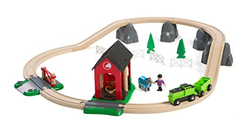 BRIO World - 33790 Countryside Horse Set | 28 Piece Train Toy with Accessories and Wooden Tracks for Kids Ages 3 and Up