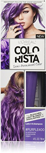 (L'Oréal Paris Colorista Semi-Permanent Hair Color for Light Bleached or Blondes, Purple)