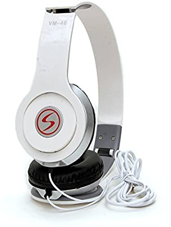 Signature VM46 Stereo HD Dynamic Wired Headphone White