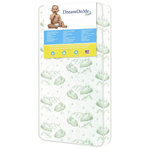 Dream On Me 96 Coil Spring Crib and Toddler Bed Mattress, 6'