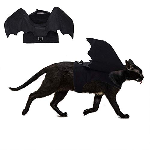 How Do You Draw A Halloween Bat (RYPET Cat Halloween Costume - Halloween Bat Wings Pet Costumes for Small Dogs Cats Halloween Party)