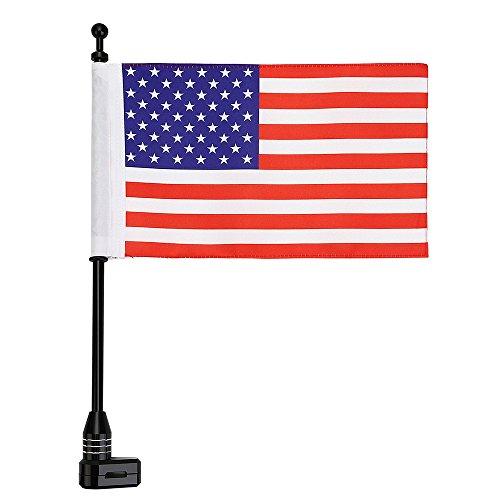 le American Flag Durable Adjustable Flag Pole Luggage Rack Mount Kit For Honda GoldWing GL1800 (American Honda Motorcycles)