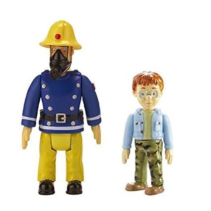 profiter de prix pas cher couleur n brillante sélection mondiale de Sam Le Pompier – Pack 2 Figurines – Sam avec Masque & Nicolas (Import  Royaume-Uni)