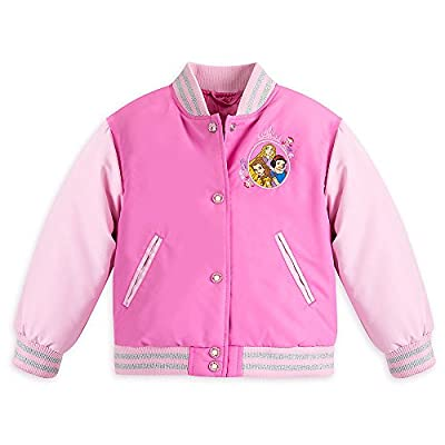 Disney Girls Princess Varsity Jacket Pink