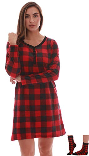 Just Love Henley Night Shirt with Socks for Women 6731-10195-S
