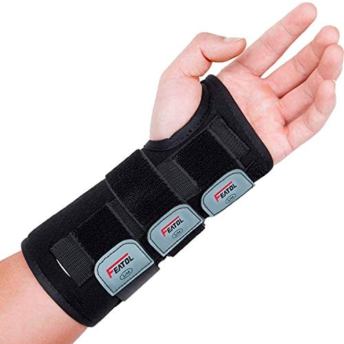 Wrist Brace for Carpal Tunnel, Adjustable Wrist Support Brace with Splints Left Hand, Small/Medium, Arm Compression Hand…