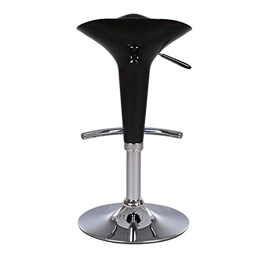 Mefeir Set of 2 Contemporary Swivel Bar Stools with Footrest Air Lift Adjustable Height,Modern Salon Barber Pub Spa Chairs by Mefeir (Image #2)