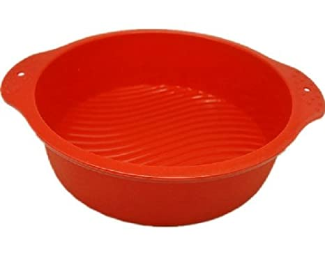 7.5 Inch Flower Round Silicone Cake Baking Tray Moulds Bread Cake Pans Cake Mold