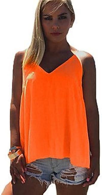 Mujer Camisas y blusas de mujer color naranja Depósitos, sin ...