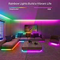 Govee Dreamcolor Led Strip Lights Music Sync 16 4ft Waterproof Phone Controlled Color Changing Light Strip For Party Room Bedroom Tv Kitchen Cabinet Decoration All In One Kit Amazon Com Au Lighting