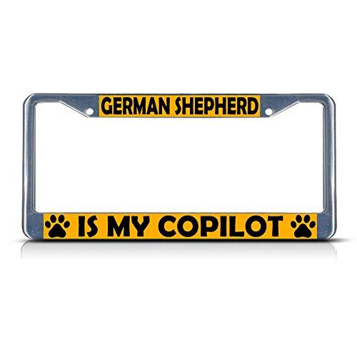Knife Rescue Bravo (German Shepherd Dog is My CO-Pilot Metal License Plate Frame Tag Border Perfect for Men Women Car garadge Decor)
