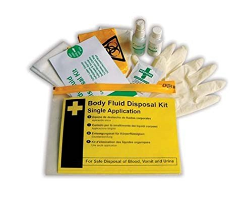 Body Fluid Disposal Kit Single Compact Spillage Cleaning First Aid Kit Bag by Sportsgear US