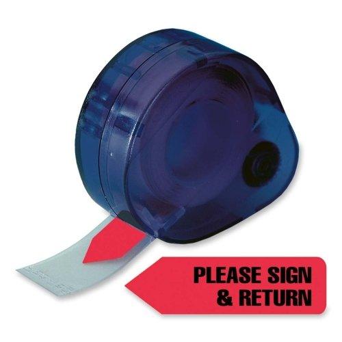 Wholesale CASE of 25 - Redi-Tag Please Sign & Return Arrow Tags-Please Sign & Return Arrow Flag, 9/16''x1-7/8'', 120/PK, Red