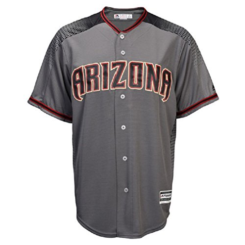 Zack Greinke Arizona Diamondbacks #21 MLB Men's Official Cool Base Player Jersey Gray/Red (Small) by Majestic Athletic
