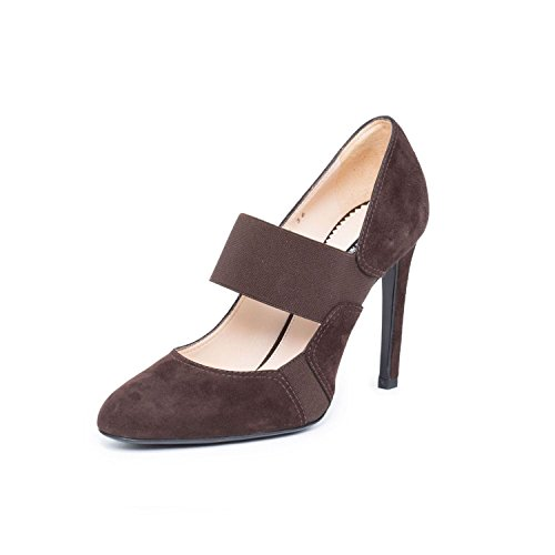 GIORGIO ARMANI Women Brown Suede Leather Mary Jane Classic Pumps High Heel Shoes US 6 EU - Leather Armani Bag Giorgio