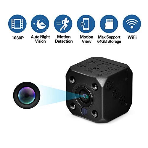 sunnflowfox Hidden Camera, Wireless WiFi Spy Camera 1080P HD Video Recorder Indoor Nanny Cam Auto Night Vision Motion Detection Recording for Home, Office Security