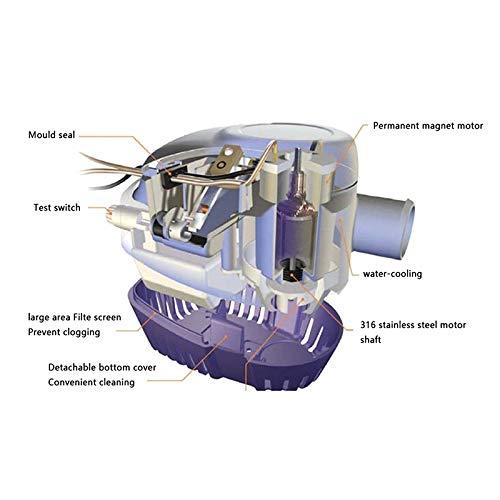 Bombas sumergibles con Interruptor de Flotador Bomba de Agua Doublele Bomba de Agua de sentina autom/ática 12V 1100GBH