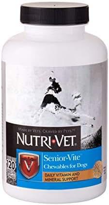 Nutri-Vet Senior-Vite Chewables for Dogs. 120 count