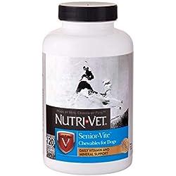 Nutri-Vet Senior-Vite Dog Vitamin Liver Chewable, 120 Count