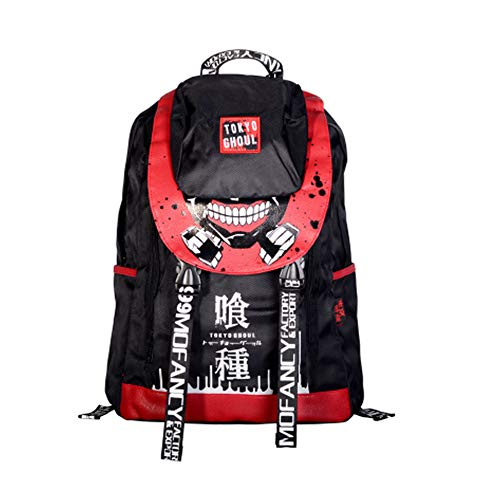 Broadmix Anime Comics Oxford Backpack - Assassination Classroom Shoulder Bag Attack On Titan Bookbag One Piece School Bag Tokyo Goul Daypack Gintama - Mens Oxford Titan