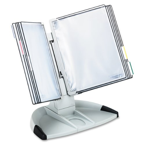 Tarifold Modular Desktop Reference System With 10 Display Pockets, Gray, 20 Sheet Capacity ()