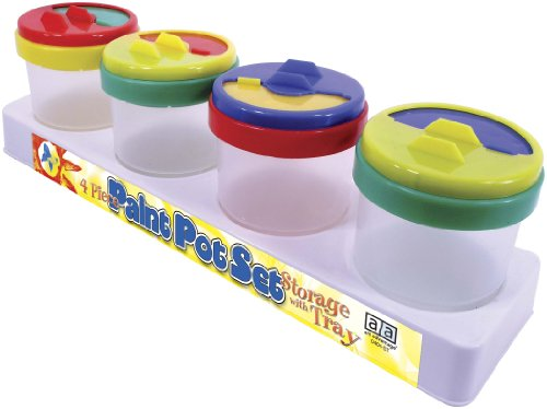 Art Advantage No Spill Painting Cups,  4-Piece Set by Art Advantage