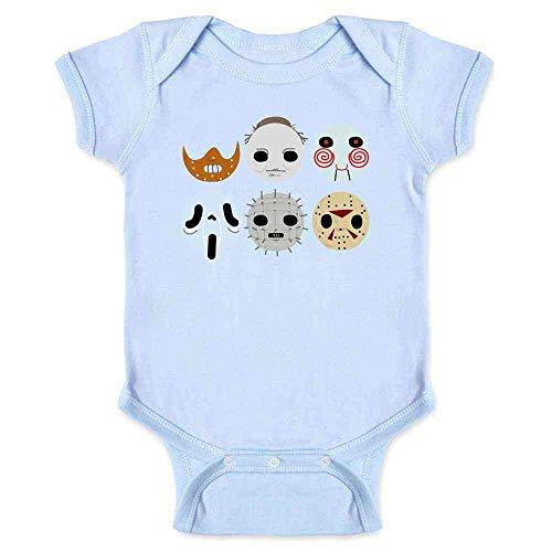Horror Masks Halloween Costume Monster Light Blue 6M Infant Bodysuit -