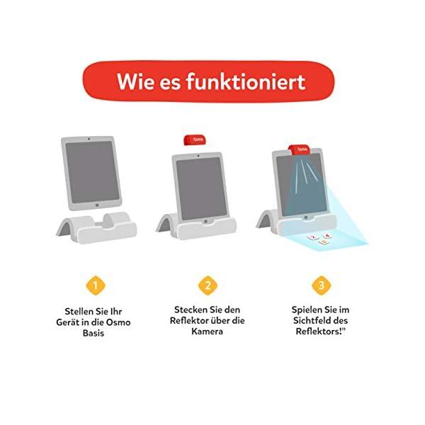 OSMO 901-00041 Genius Starter Kit (Versione tedesca) – Include 5 diversi mondi di apprendimento per bambini da 6 a 10 anni di base e riflettore inclusi 5 spesavip