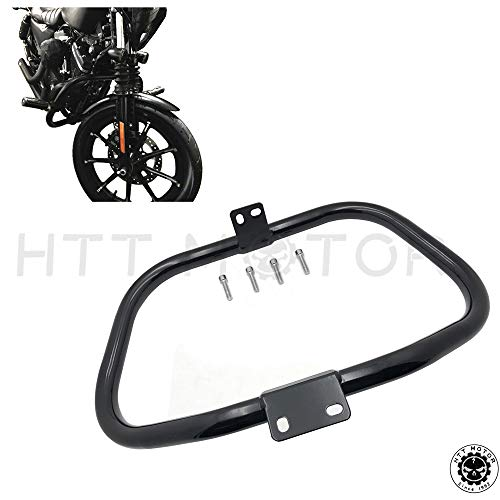 - HTTMT MT504-001- 504-001- Motorcycle Matte Black Front Crash Saftey Bars Protection Compatible with 2005-2015 Harley Iron 883 XL883N XL1200N XL1200L 48 XL1200X Sportster