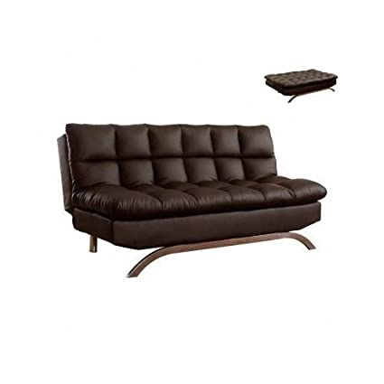 Amazoncom Modern Luxury Quality Leather Futon Sofa Bed Chair
