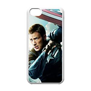 J-LV-F Print Captain America Pattern PC Hard Case for iPhone 5C