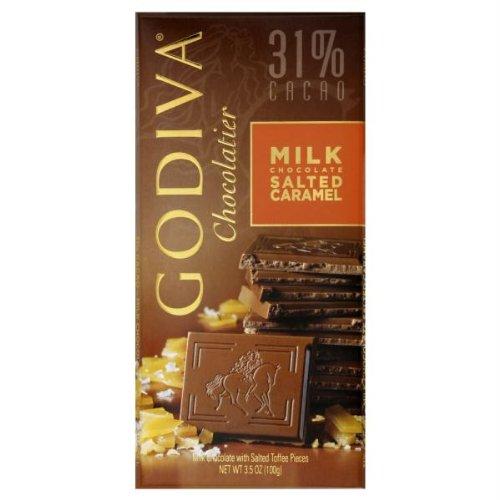 31% Cacao Milk Chocolate Salted Caramel 3.50 Ounces (Case of 10)
