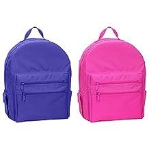 UltraClub Adjustable Back-Straps Double Zipper Backpacks Set