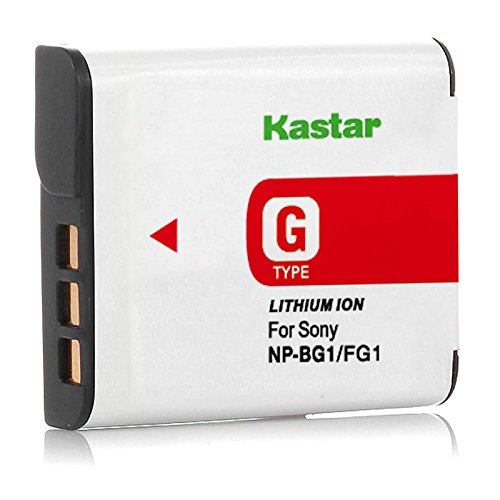 Kastar NPBG1 Batttery for Sony NP-BG1 NP-FG1 NPFG1 Type G Battery Pack and Sony Cybershot Cameras