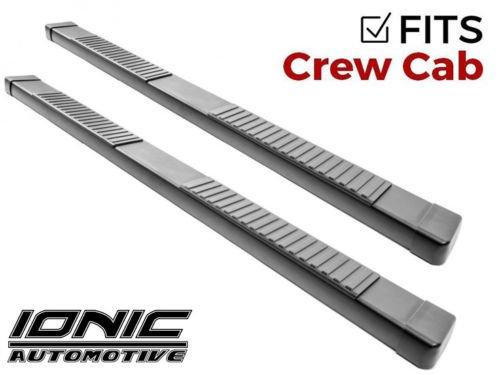 Ionic 51 Series Black Running Boards 2014-2018 Chevy Silverado GMC Sierra Crew Cab Gas (Series Boards Chevy Running)