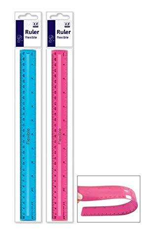 Anker Stationery 30,5 cm transparent biegsam flexibles Lineal Schule B/üro Arbeit Neu