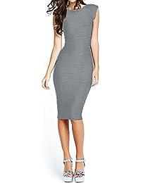 Women's Midi Dresses Sleeveless Knee Length Party Evening...