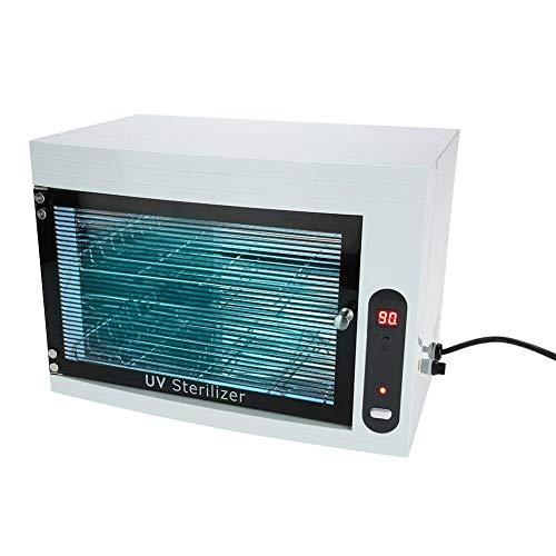 シャッフル確立夜明けUV 消毒キャビネット はさみ用 プロ マニキュアツール タオルネイルツール滅菌装置LEDディスプレイと3タイマーSettings110V
