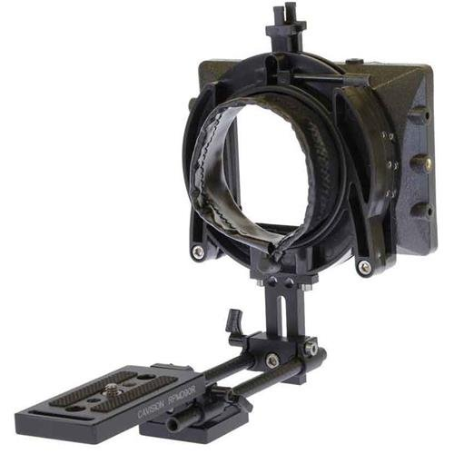 Cavision 3x3 Mattebox Package for DSLR Camera, Includes 3x3 Hard Shade Matte Box, 85mm Donut Lens Adapter Ring, RS-816 8mm Light Weight Rod Support System