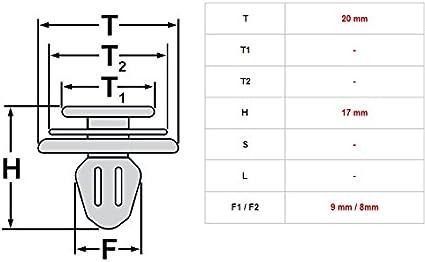 5/x modanature graffette graffette fissaggio Renault Kangoo Master Trafic