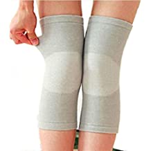 UZZO Women Female Ultra-thin breathable Elastic Knees Sleeves Compression KneePads Knees Leg Warmers Knees Brace Support For Outdoor Sports Volleyball Basketball Dance Yoga Cycling Climbing(X-Large)+Free UZZO logo Key Ring