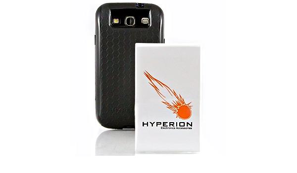 Hyperion Samsung Galaxy SIII 7000 mAh batterie étendue Gratuit Noir Nid d'abeille Extended Battey Coque en TPU (compatible avec Samsung Galaxy S III ...