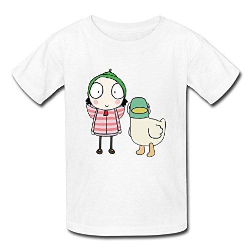 Kazzar Kid's Sarah And Duck Show Art Round Collar T Shirt ()