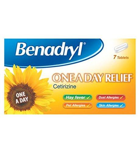 Benadryl One A Day Relief Allergien Tabletten Cetirizinhydrochlorid x7