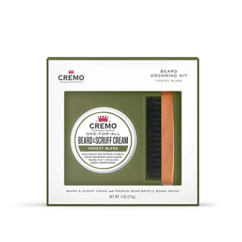 (Cremo Beard Kit: Beard and Scruff Cream & Beard Brush)