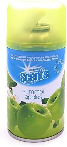 """at home Scents Nachfüller für automatische Sprühgeräte""""summer apples"""" (250ml) (12)"""