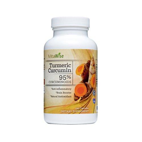 Curcuma curcumine, 1000 mg dans deux capsules Daily, 120 Caps par VitaWise