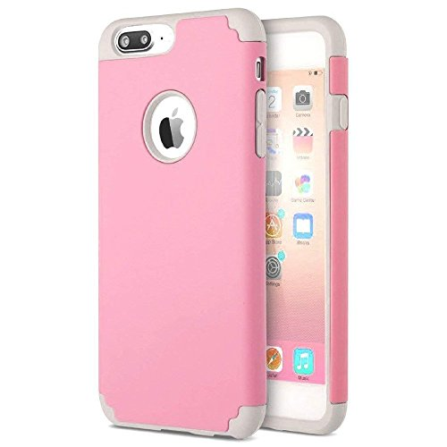 Price comparison product image iPhone 8 / 7 Plus Thin Case,  HLCT Slim Hybrid Dual-Layer Case for iPhone 8 / 7 Plus (Pink)